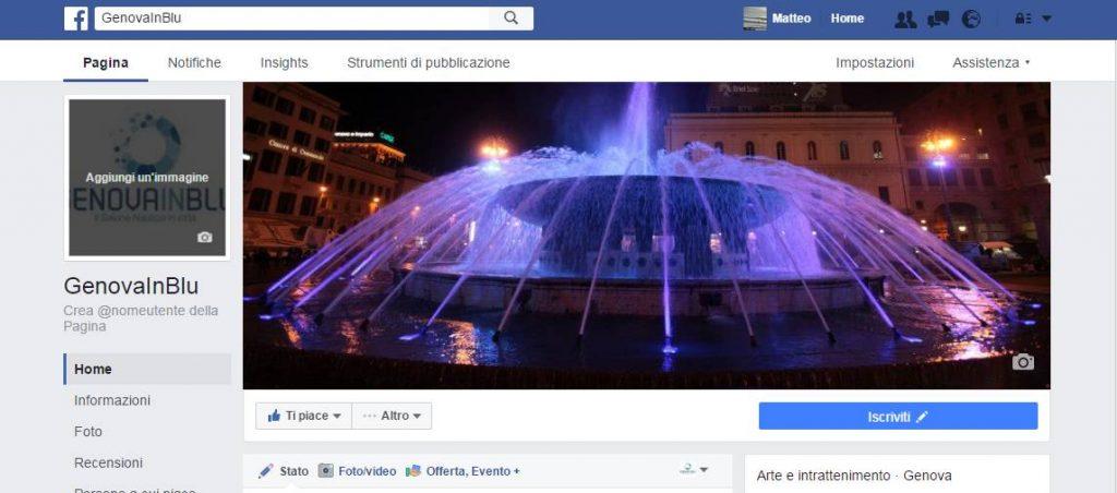genovainblu gestione pagina facebook