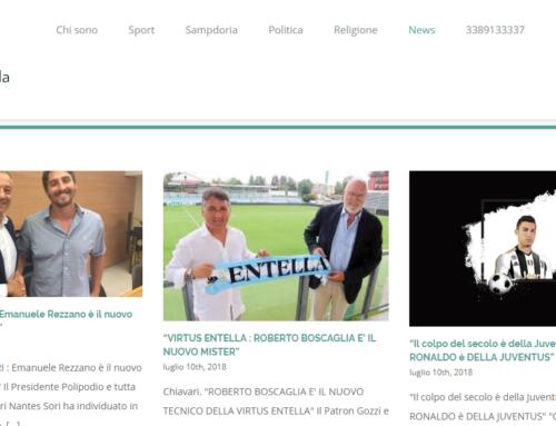 Sito Web per giornalista sportivo